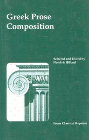 Cover of: Greek Prose Composition