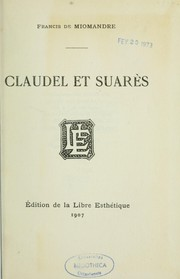 Cover of: Claudel et Suarès