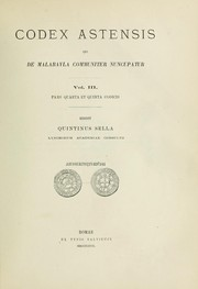 Cover of: Codex Astensis qui de Malabayla communiter nuncupatur