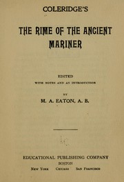 Cover of: Coleridge's The rime of the ancient mariner