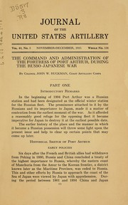 Cover of: The command and administration of the fortress of Port Arthur