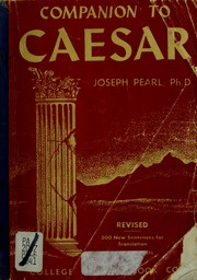 Cover of: Companion to Caesar. | Joseph Pearl