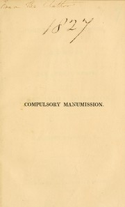 Cover of: Compulsory manumission