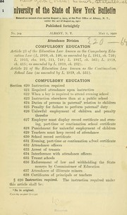 Cover of: Compulsory education