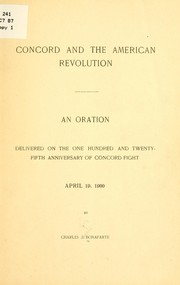Cover of: Concord and the American revolution