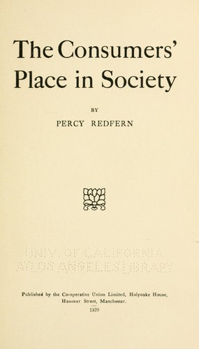 The consumers' place in society
