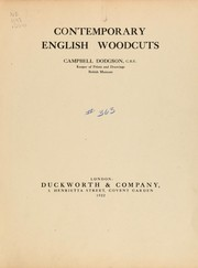 Cover of: Contemporary English woodcuts
