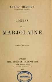 Cover of: Contes de la Marjolaine