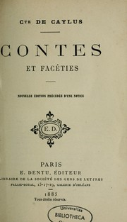 Cover of: Contes et facéties