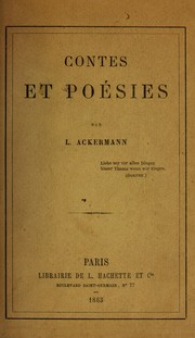 Cover of: Contes et poésies