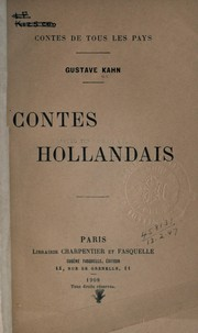 Cover of: Contes hollandais