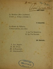 Cover of: Contre ce temps