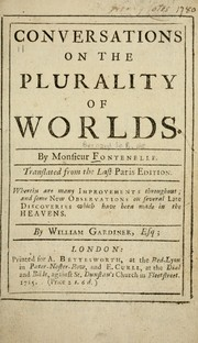 Cover of: Conversations on the plurality of worlds. | Fontenelle M. de