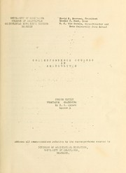 Cover of: Correspondence courses in agriculture ... | California Agricultural Experiment Station. Division of Agricultural Education.