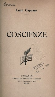 Cover of: Coscienze