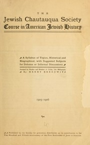 Cover of: Course in American Jewish history