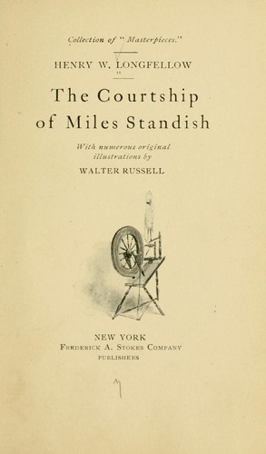 an introduction to the courtship of miles standish by henry wadsworth longfellow