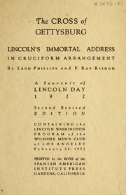 Cover of: The cross of Gettysburg