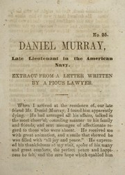 Cover of: Daniel Murray, late lieutenant in the American navy