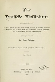 Cover of: Das deutsche Volkstum