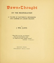 Cover of: Dawn-thought on the reconciliation