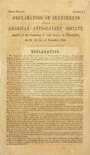 declaration of sentiments of the american anti
