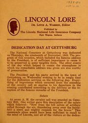 Dedication day at Gettysburg by Louis Austin Warren