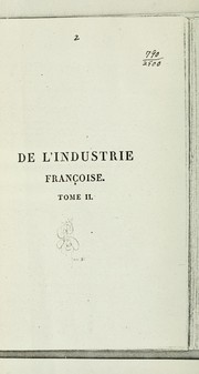 Cover of: De l'industrie françoise