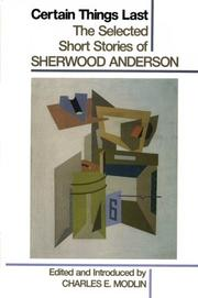 Cover of: Certain things last | Sherwood Anderson