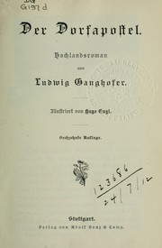 Cover of: Der Dorfapostel