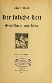 Cover of: Der falsche Gott