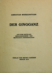 Cover of: Der Gingganz