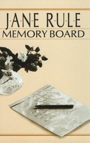 Cover of: Memory board