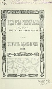 Cover of: Der Klosterjäger