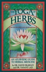 Cover of: The yoga of herbs