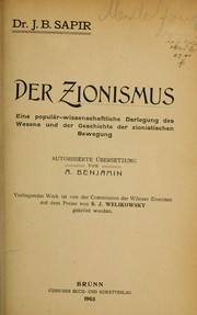 Cover of: Der Zionismus