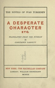Cover of: A desperate character, etc