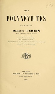 Cover of: Des polynévrites