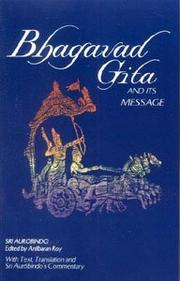 Cover of: Bhagavad gita and its message