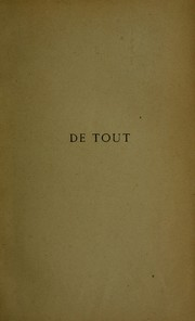 Cover of: De tout