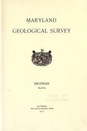 Cover of: Devonian plates | Maryland Geological Survey