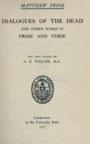 Cover of: Dialogues of the dead