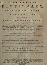 Cover of: Dictionary, English and Latin