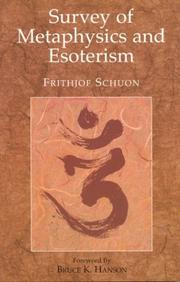Cover of: Survey of Metaphysics (Library of Traditional Wisdom Series)
