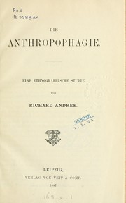 Cover of: Die Anthropophagie