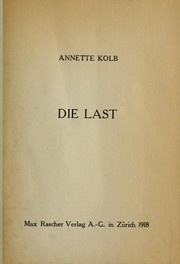 Cover of: Die Last