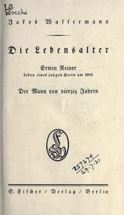 Cover of: Die Lebensalter