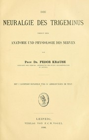 Cover of: Die Neuralgie des Trigeminus
