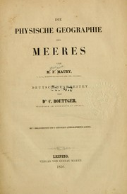 Cover of: Die physische Geographie des Meeres