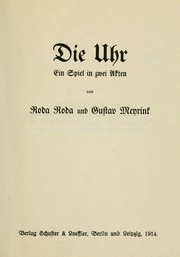 Cover of: Die Uhr by Alexander Roda Roda
